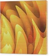 Soft Peaks Wood Print