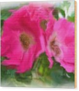 Soft Pink Flowers Wood Print