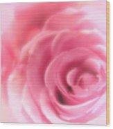 Vintage Pink Rose Wood Print