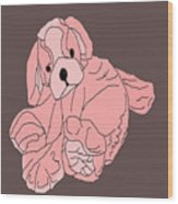 Soft Puppy Pink Wood Print