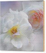 Soft Roses Wood Print