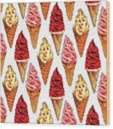 Soft Serve Pattern Wood Print