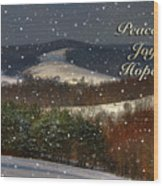 Soft Sifting Christmas Card Wood Print by Lois Bryan