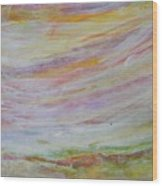 Soft Sky Wood Print