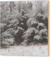 Soft Snow Wood Print