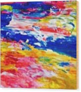 Soft Strokes Aesthetic Sunset Wood Print