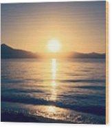 Soft Sunset Lake Wood Print