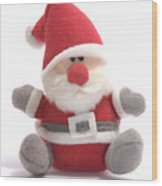 Softie Santa Wood Print