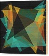 Soil Polygon Pattern Wood Print