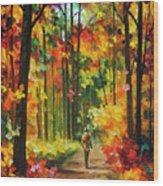 Soild Fall  Wood Print