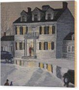 Soiree At Billings Estate Wood Print