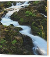 Sol Duc Falls 2 Wood Print