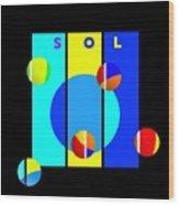 Solar Activity Wood Print
