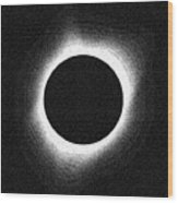 Solar Eclipse  2017 Wood Print