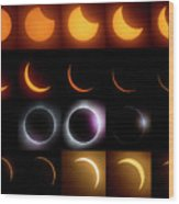 Solar Eclipse - August 21 2017 Wood Print