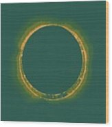 Solar Eclipse By Hinode Observes, Nasa 4 Wood Print