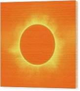 Solar Eclipse In Daffodil Color Wood Print