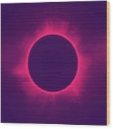 Solar Eclipse In Hipster Colors Wood Print