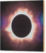 Solar Eclipse In Infrared 2 Wood Print