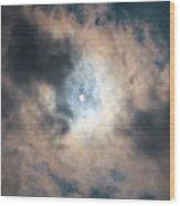 Solar Eclipse No Filter Wood Print