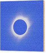 Solar Eclipse Of 2017 Poster 4 Wood Print