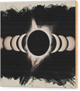 Solar Eclipse Phases 2 Wood Print