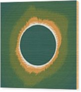 Solar Eclipse Poster 2 Wood Print