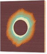Solar Eclipse Poster 4 A Wood Print
