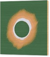 Solar Eclipse Poster 4 B Wood Print