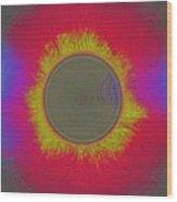 Solar Eclipse Spectrum 3 Wood Print