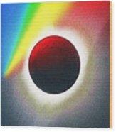 Solar Eclipse Spectrum  Of 2017 2 Wood Print