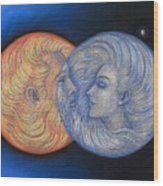 Solar Eclipse Wood Print by Sue Halstenberg