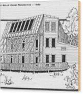 Solar House Wood Print