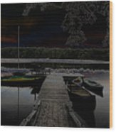 Solar Lake Wood Print
