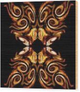 Solar Moth Wood Print