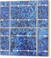 Solar Panels Background Wood Print