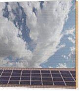 Solar Panels On Roof Top Wood Print