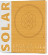 Solar Plexus Chakra Series Three Wood Print