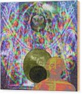 Solar Plexus Spirit Wood Print by Joseph Mosley