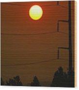Solar Power Lines Wood Print