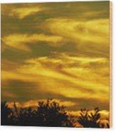 Solar Storm Sunset Wood Print