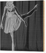 Solarized Dancer Wood Print