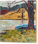 Sold Donnie Myers Pond Wood Print by Charlie Spear