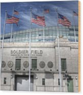 Soldier Field Wood Print