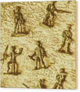 Soldiers And Battle Maps Wood Print