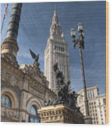Soldiers' And Sailors' Monument Wood Print