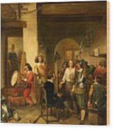 Soldiers In A Tavern During The Thirty Years Wood Print