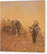 Soldiers In The Dust 4 Wood Print