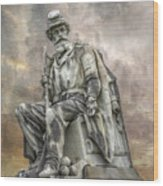 Soldiers National Monument War Statue Gettysburg Cemetery  Wood Print