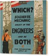 Soldiers Or Mechanic Wood Print